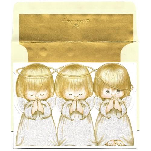 Notecard Antigo Importado Ruth Morehead Angels G Hallmark