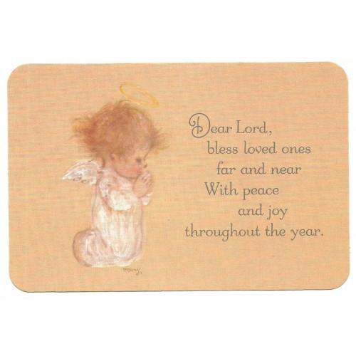 Postcard Antigo Importado Mary Hamilton Peace & Joy Hallmark