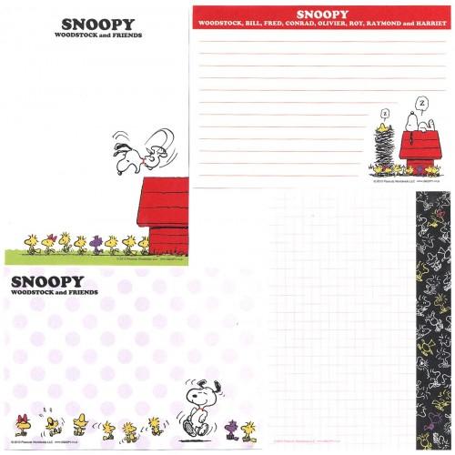 Ano 2013. Kit 4 Notas SNOOPY & Woodstock CLL PENAUTS JAPAN