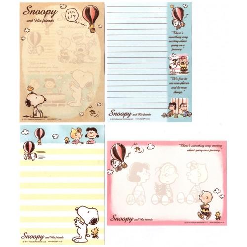 Ano 2014. Kit 4 Notas SNOOPY & Friends PENAUTS JAPAN