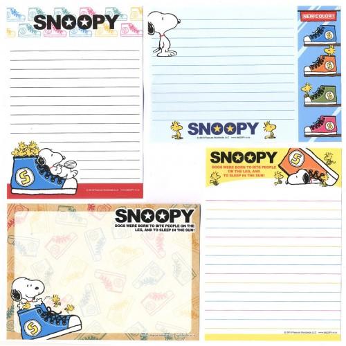 Ano 2013. Kit 4 Notas SNOOPY SHOES PENAUTS JAPAN