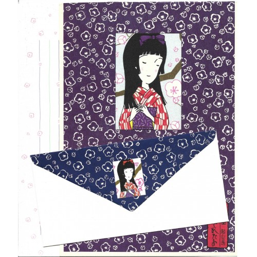 Kit CAPA & Conjunto de Papel de Carta Antigo (Vintage) GUEIXA 03 JPN