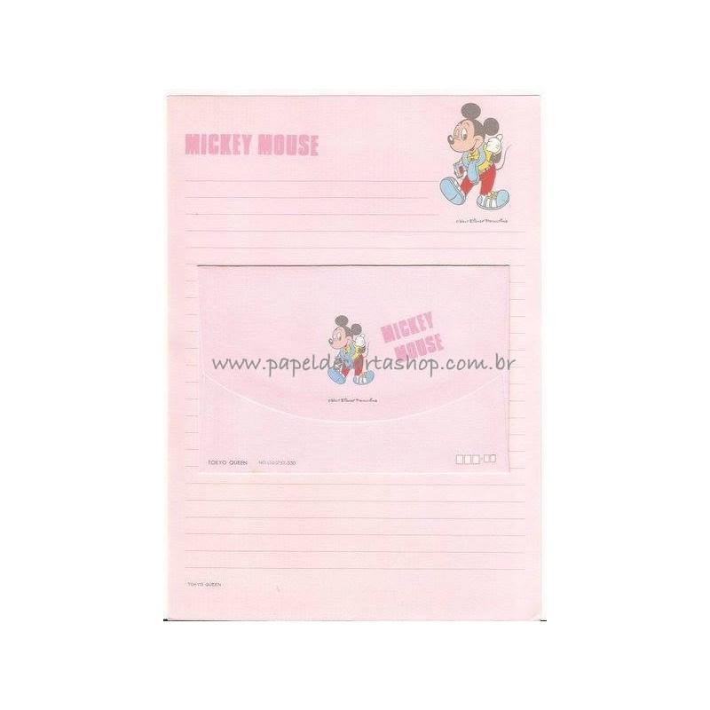 Conjunto de Papel de Carta Vintage Disney Mickey Mouse CRS TOKYO QUEEN