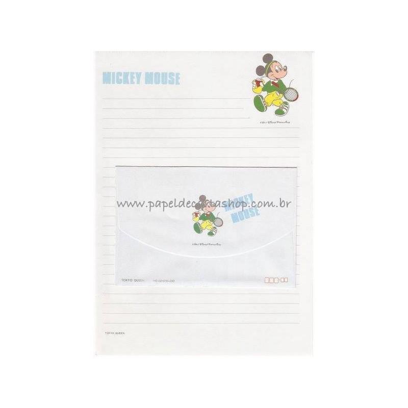 Conjunto de Papel de Carta Vintage Disney Mickey Mouse (AZ)