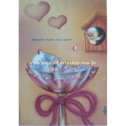 Papel de Carta Antigo Mimadinhos 012