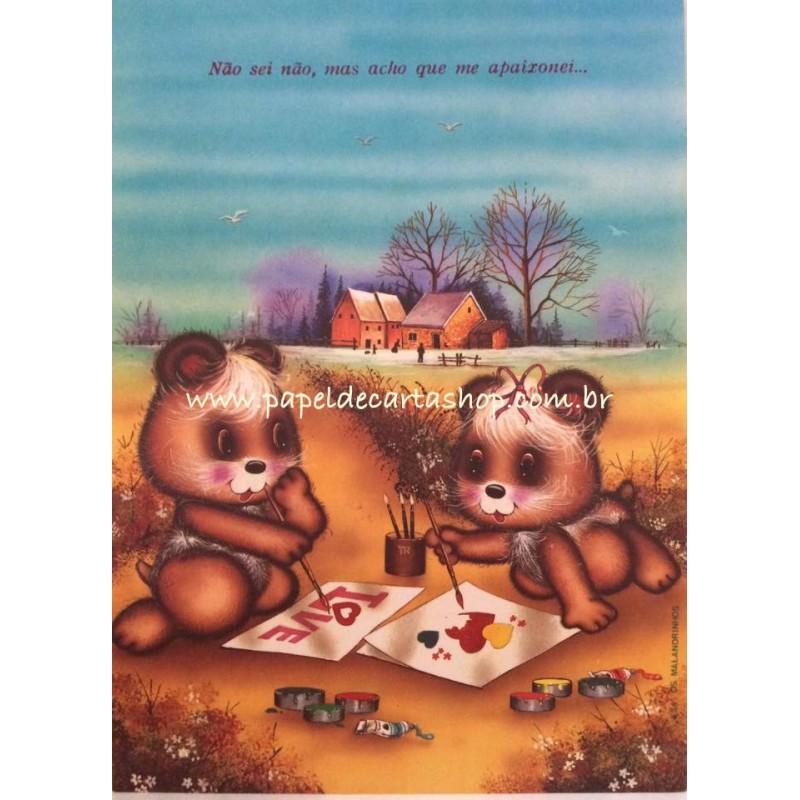Papel de Carta ANTIGO Malandrinhos 634