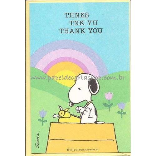 Cartão ANTIGO Snoopy P1