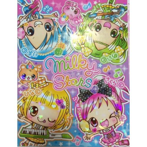 Kit 4 Conjuntos de Papel de Carta & Pastinha Milk Stars - Q-Lia