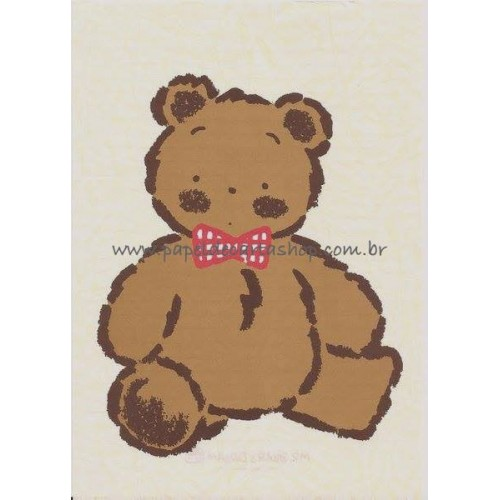 Ano 1988. Papel de Carta Avulso Mr. Bear's Dream BR Antigo (Vintage) Sanrio