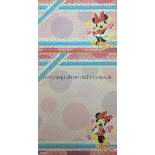 Conjunto de Papel de Carta Disney Minnie Mouse