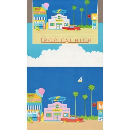 Ano 1983. Conjunto de Papel de Carta Antigo Tropical High (Vintage) Sanrio