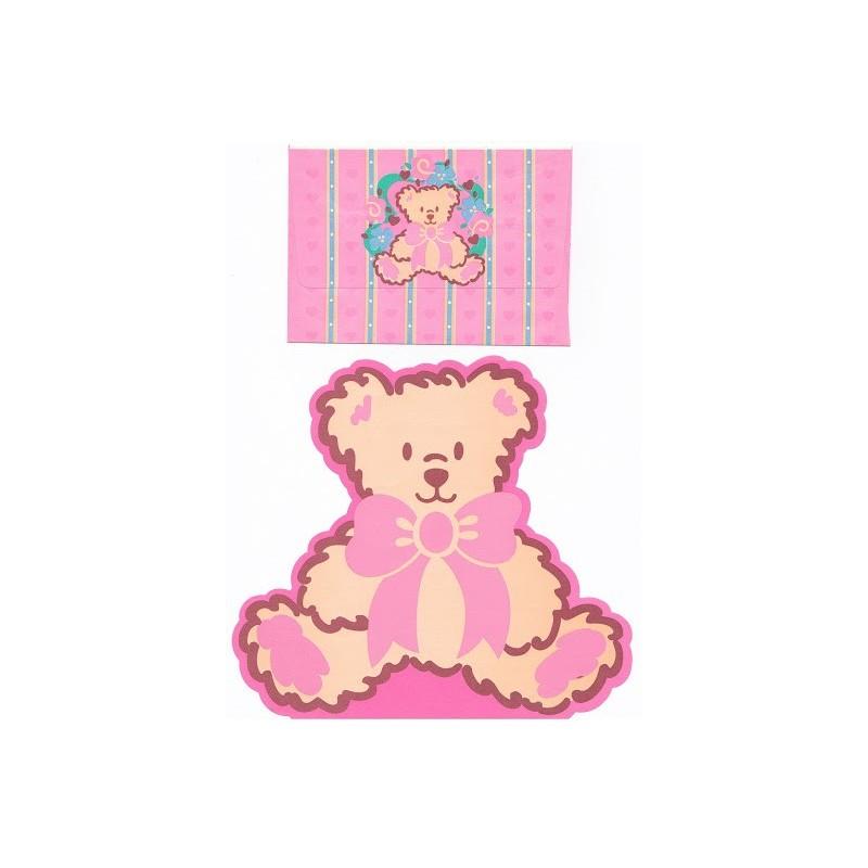 Ano 1995. Conjunto de Papel de Carta Bear Vintage Sanrio