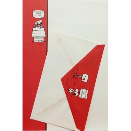 Conjunto de Papel de Carta Antigo Importado SNOOPY G5
