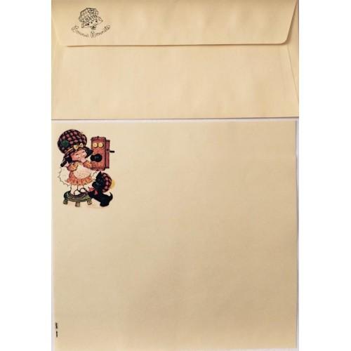 Conjunto de Papel de Carta Antigo Bonnie Bonnets GLA