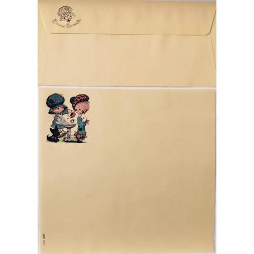 Conjunto de Papel de Carta Antigo Bonnie Bonnets GVD