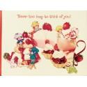 Cartão ANTIGO com Envelope Moranguinho G1