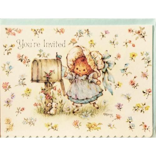 Notecard Antigo Importado Mary Hamilton - Hallmark