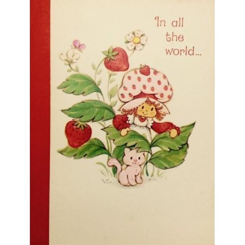 Cartão ANTIGO com Envelope Moranguinho