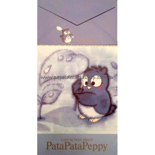 Ano 1993. Conjunto de Papel de Carta PataPataPeppy Antigo (Vintage) Sanrio