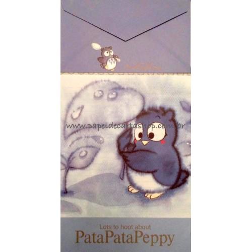 Ano 1993. Conjunto de Papel de Carta PataPataPeppy Vintage Sanrio