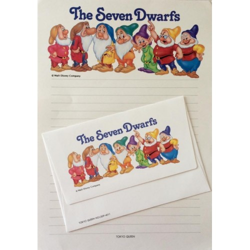 Conjunto de Papel de Carta VINTAGE Disney - The Seven Dwarfs 2
