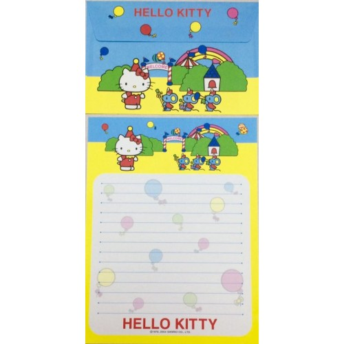 Ano 2004. Conjunto de Papel de Carta Hello Kitty Best Collection 12 Sanrio